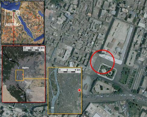 Die Bombe detonierte auf dem Hauptplatz des Khan-Al-Khalili-Basar im Zentrum von Kairo - nahe der Hussein-Moschee