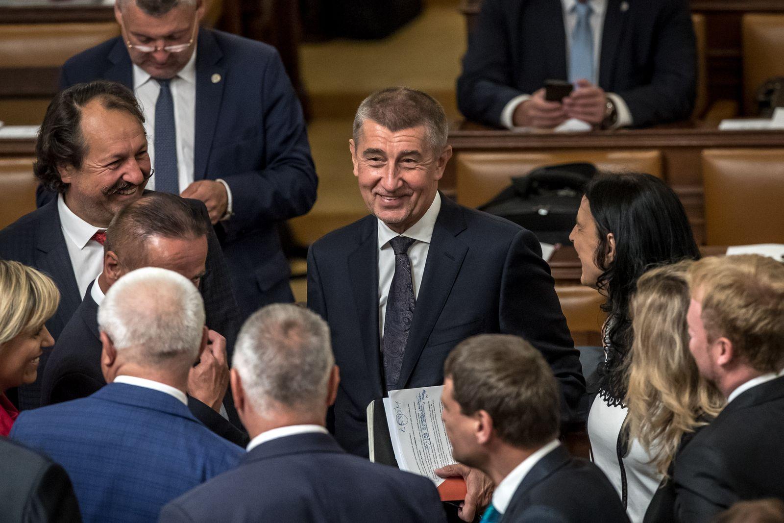 Prag/ Andrej Babis/ Tschechischen Vertrauensabstimmung