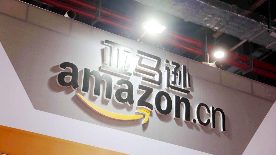 Auch in China bekannt: Amazon-Logo in Shanghai