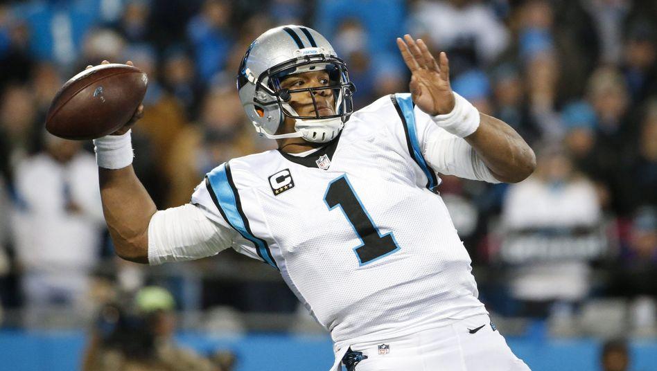 NFL-Quarterback Cam Newton von den Carolina Panthers