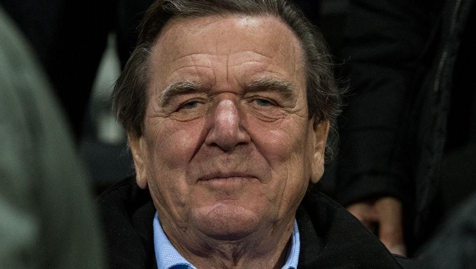 Altkanzler Gerhard Schröder (im Stadion des SC Freiburg am 20. September 2017)