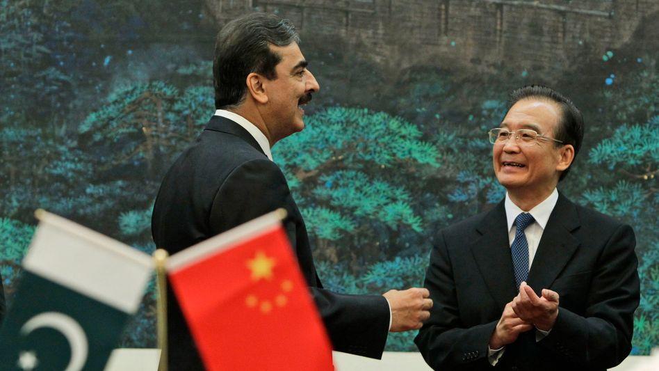 """Pakistans Regierungschef Gilani zu Besuch bei Chinas Premier Wen: """"Passende Antwort"""""""