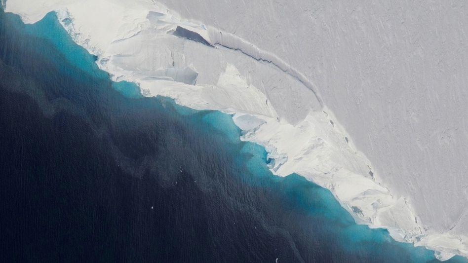 Thwaites-Gletscher auf einem Nasa-Satellitenbild (2018): Schmelzwasser in 30 Jahren fast verdoppelt