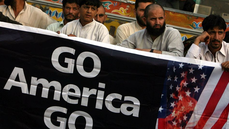 On May 6, 2011, supporters of Islamic political party Jamat-e-Islami rally in Karachi, Pakistan, to protest the US raid that killed Osama bin Laden.