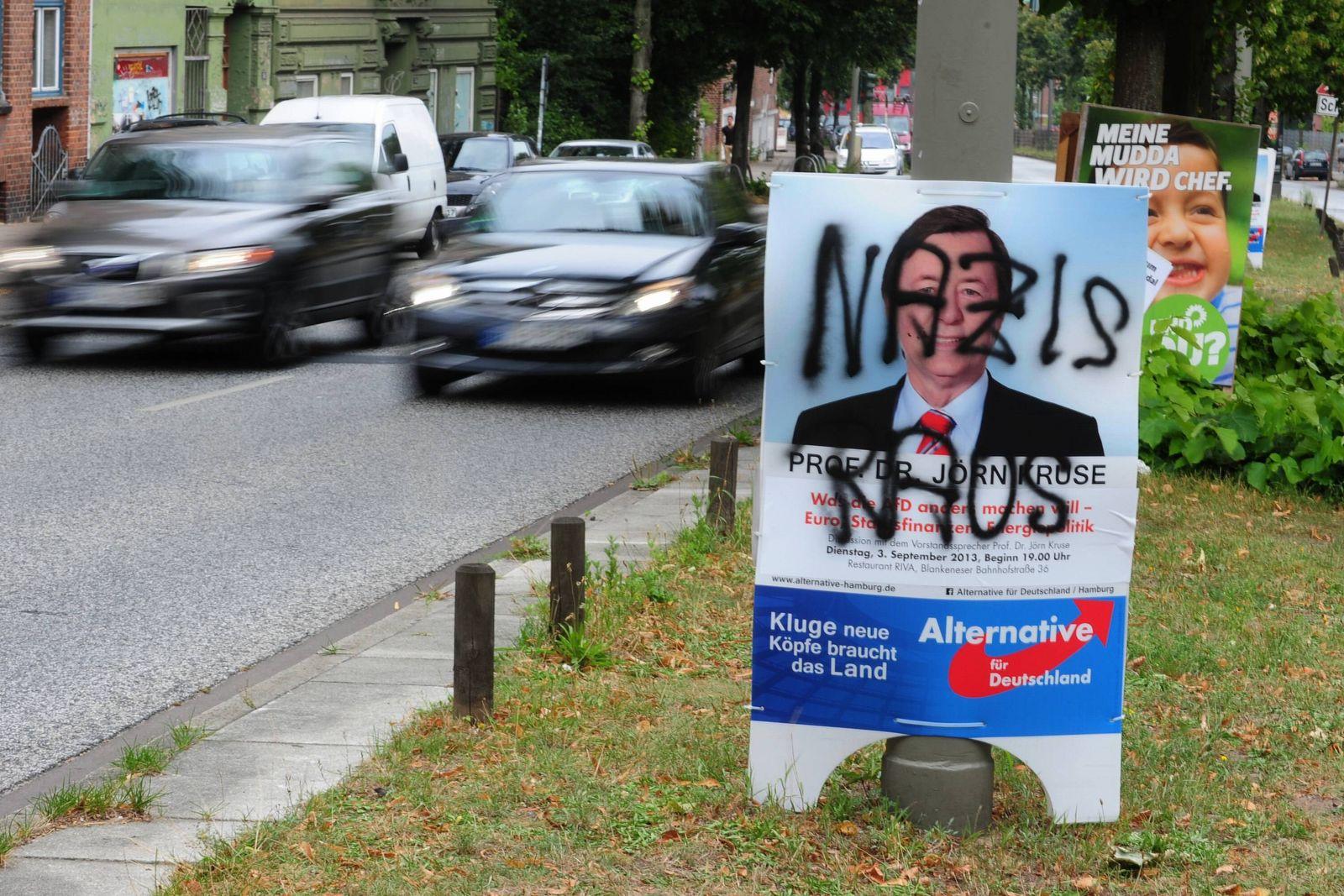 EINMALIGE VERWENDUNG AfD Wahlplakat