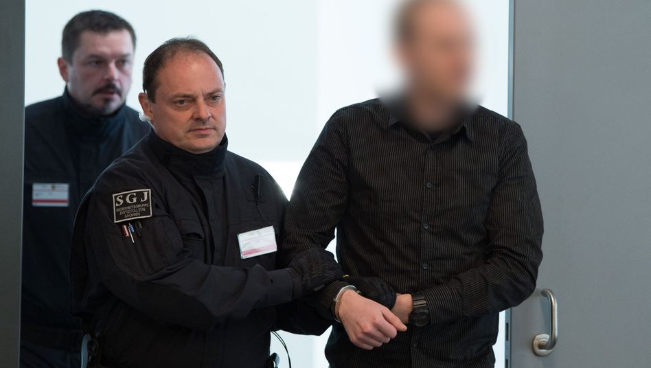 Der Angeklagte Patrick F. am 25.April 2017