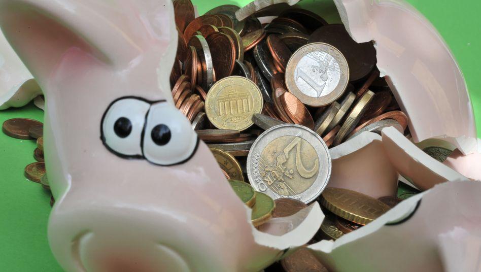 Sparschwein mit Euro-Geldstücken