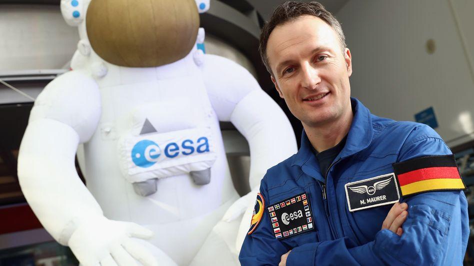 Esa-Astronaut Matthias Maurer (rechts im Bild)