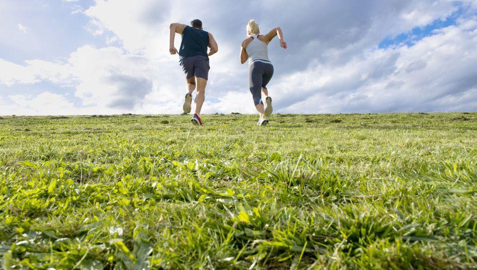 Immer schön den Berg rauf: Läufer verstehen etwas von Schmerzausdauer
