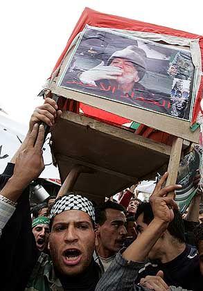 Arafat-Portraits in der gesamten Stadt