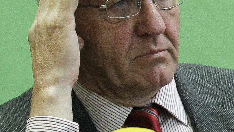 Pass the aspirin: Winfried Kretschmann, the Greens' governor-to-be of Baden-Württemberg.