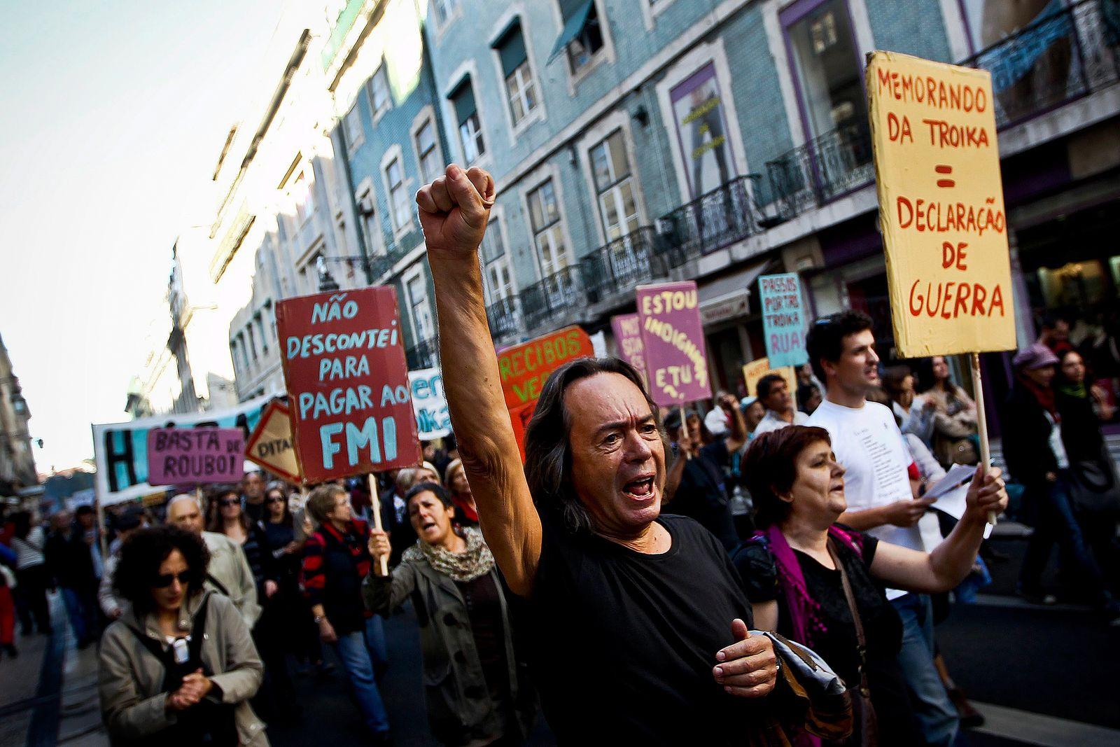 Portugal / Protest gegen Troika