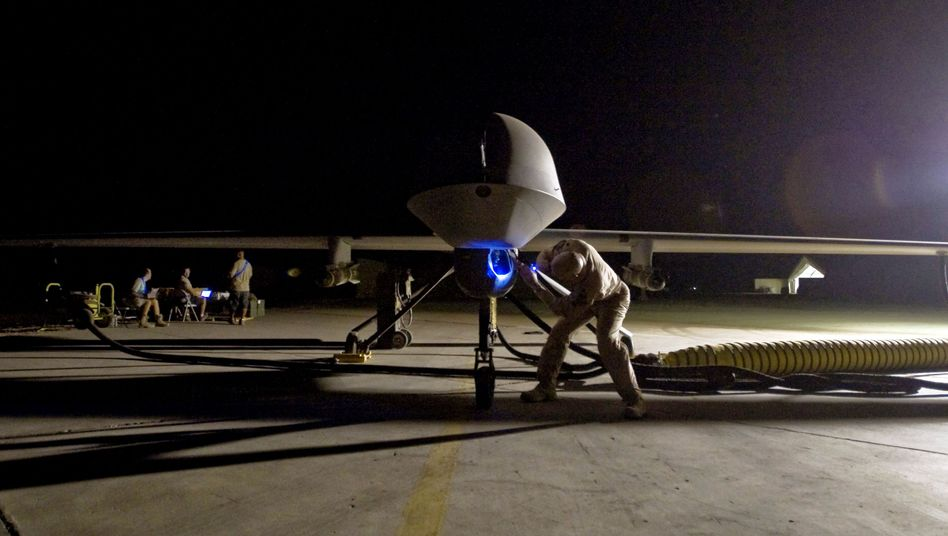 Predator drones like this one are used for targeted killings in Pakistan (2008 photo).