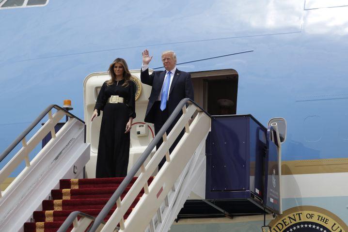 US-Präsident Donald Trump und First Lady Melania Trump in Riad
