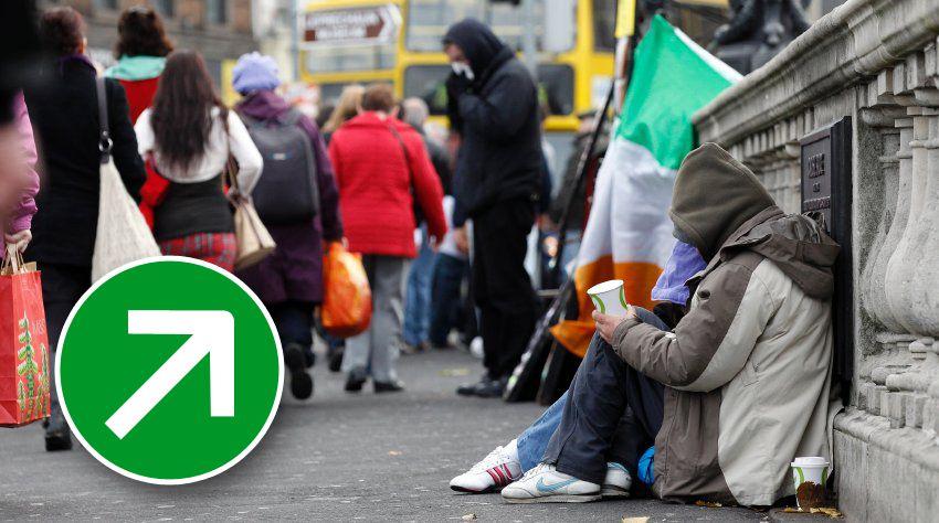 Finanzkrise Irland Symbol Pfeil rauf