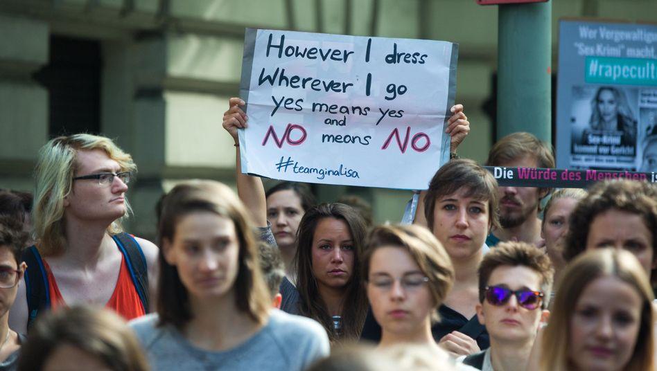 Demonstration gegen sexuelle Gewalt in Berlin
