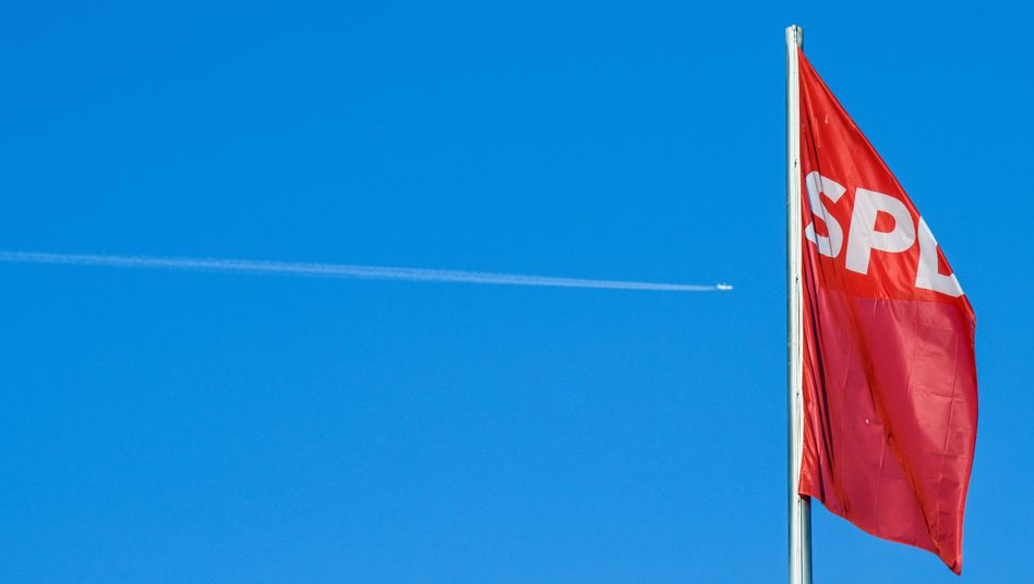 SPD-Fahne (Symbolbild)