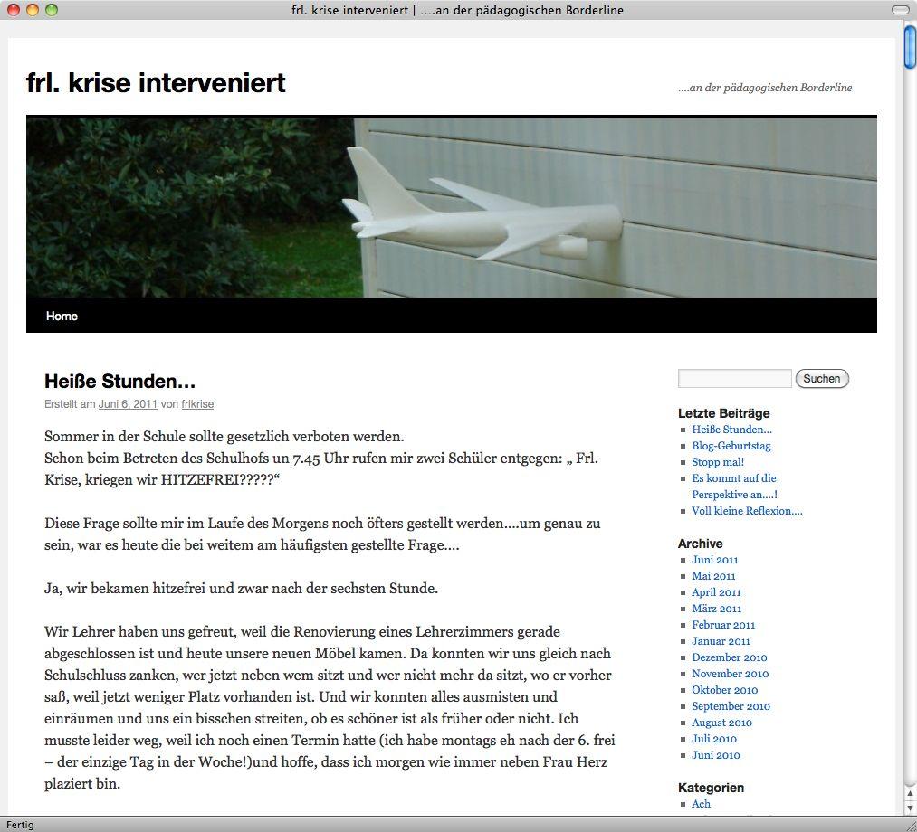 Screenshot/ Blog frl- krise interveniert