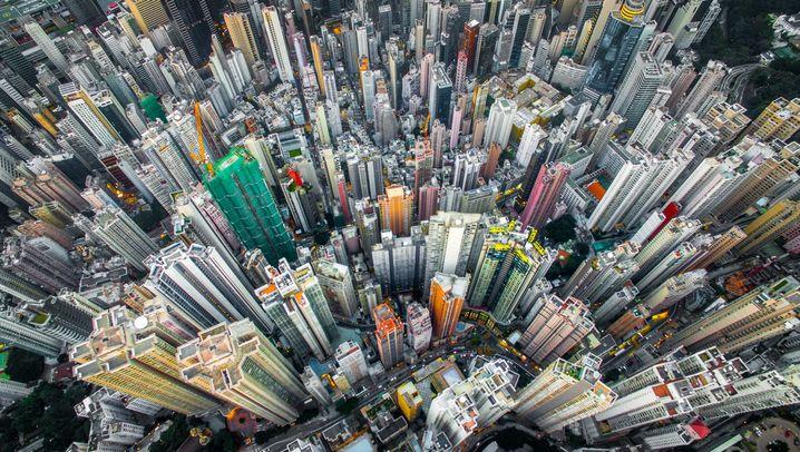 Spektakuläre Fotos: Drohne über Hongkong