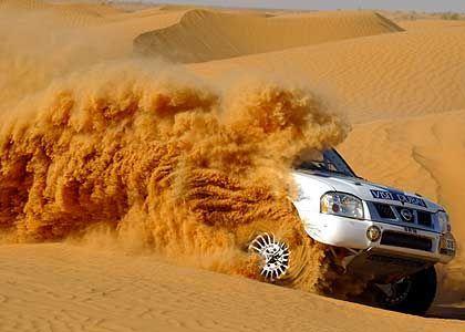 Hoffentlich kein Sand im Getriebe: Khalifa Al Mutaiwei (Emirate) belegte auf der fünften Etappe den 17. Rang