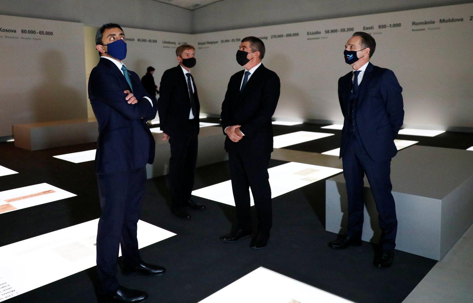 Maas empfängt Außenminister Israels und der Emirate