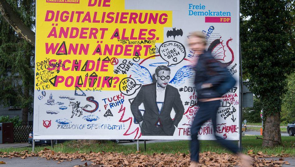 FDP-Wahlplakat (in Stuttgart)