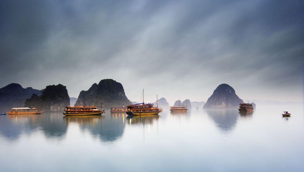 Halong-Bucht: Romantik zwischen Karstfelsen