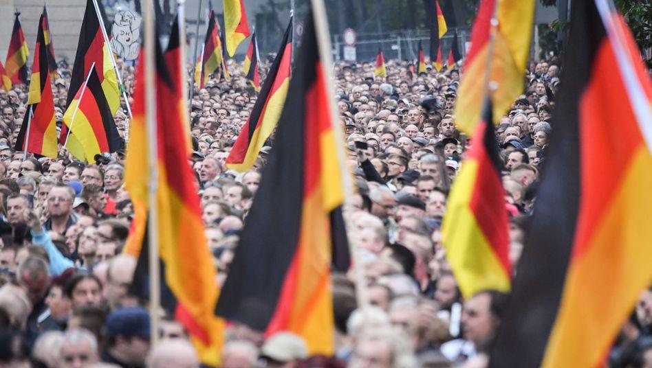 Demonstration in Chemnitz, 1. September 2018