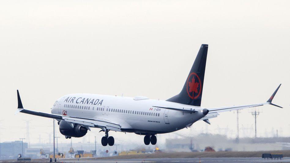 Harte Landung: Eine Air-Canada-Maschine in Toronto
