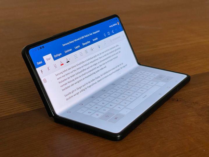 Besser als Multitasking: Texte schreiben in Word, mit eingeblendeter Tastatur