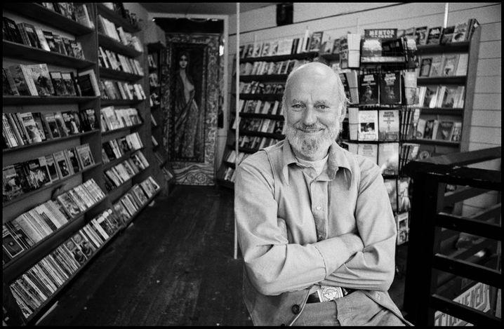 Ferlinghetti in seinem Buchladen in San Francisco, 1977