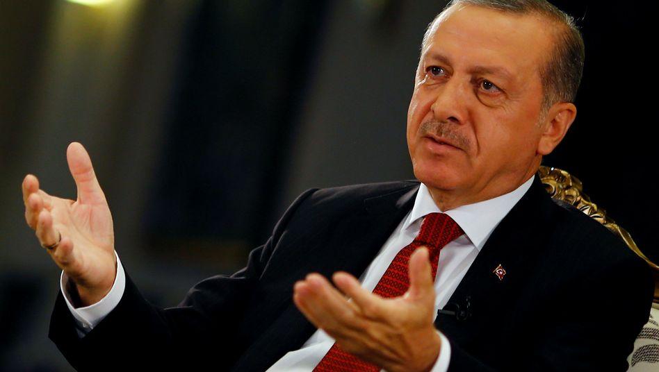 Präsident Erdogan im Juli 2016 in Istanbul