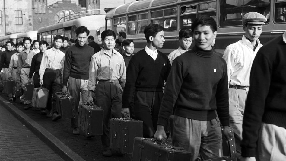 Vietnamese guest workers arrive in East Berlin, 1973. Germany has put out the call for immigrant labor more than once in its checkered history, and now it wants well-paid professionals.