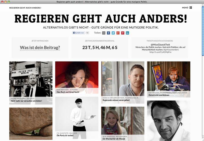 """Neue Künstlerplattform: Debattenbeiträge zum Thema """"Regieren geht auch anders"""""""