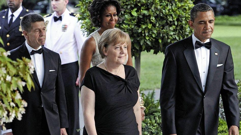 Kanzlerin Merkel, Präsident Obama 2011 in Washington Einigkeit zeigen, wo Unverständnis herrscht