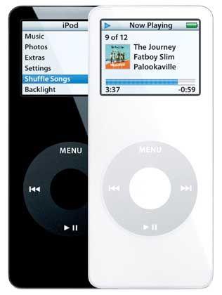Schwarz und Weiß: Schick sind iPods immer