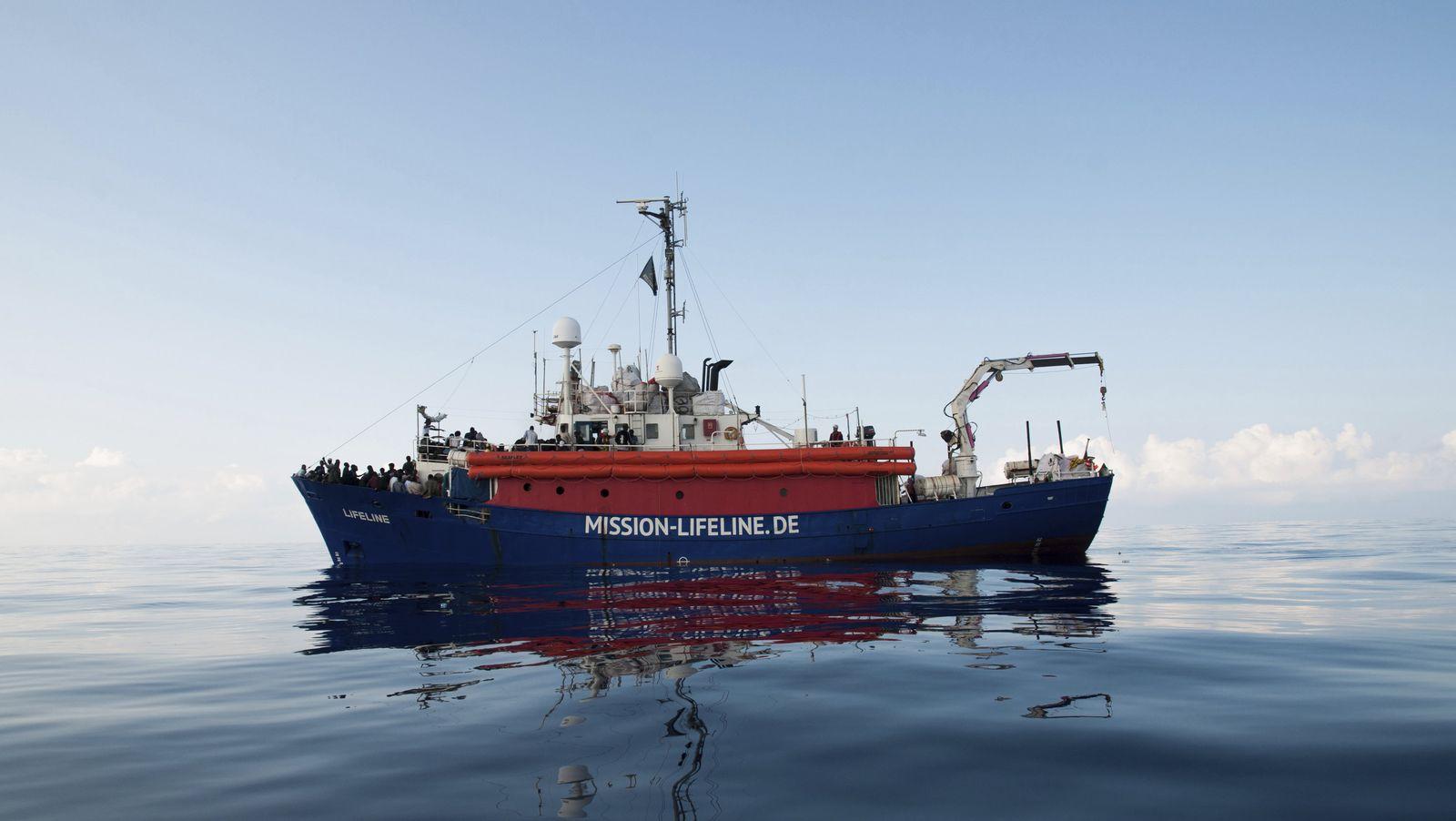 Rettungsschiff der deutschen NGO Lifeline