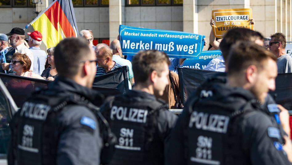 Demo von Pegida und AFD in Dresden