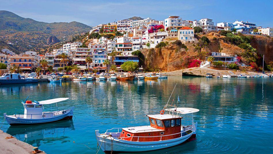 Hafen auf Kreta, Griechenland