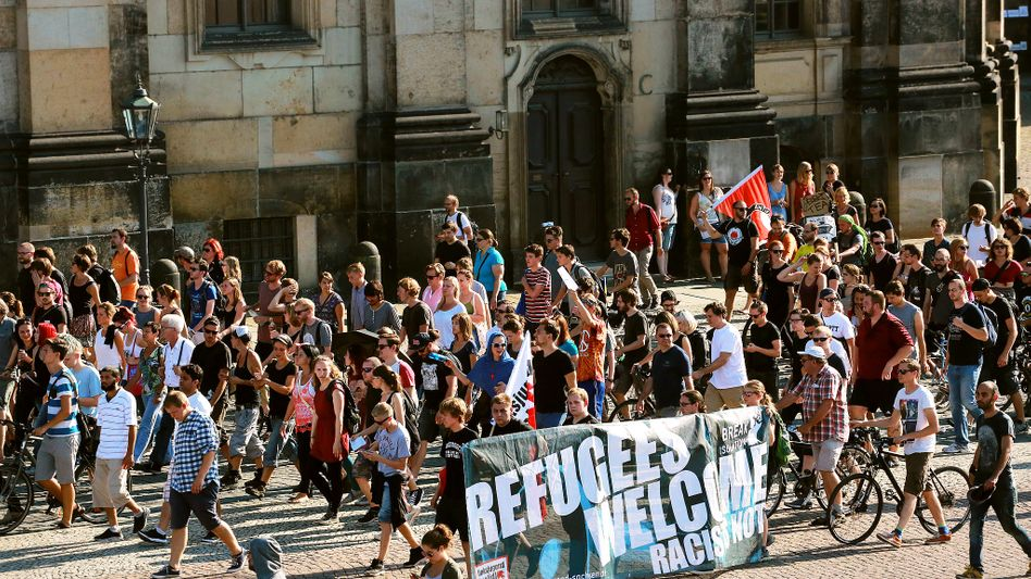 Demonstranten in Dresden: Sich unverbindlich engagieren