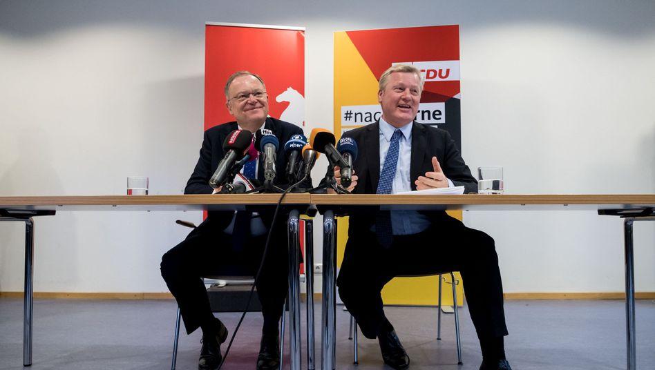 SPD-Ministerpräsident Stephan Weil, CDU-Landeschef Bernd Althusmann