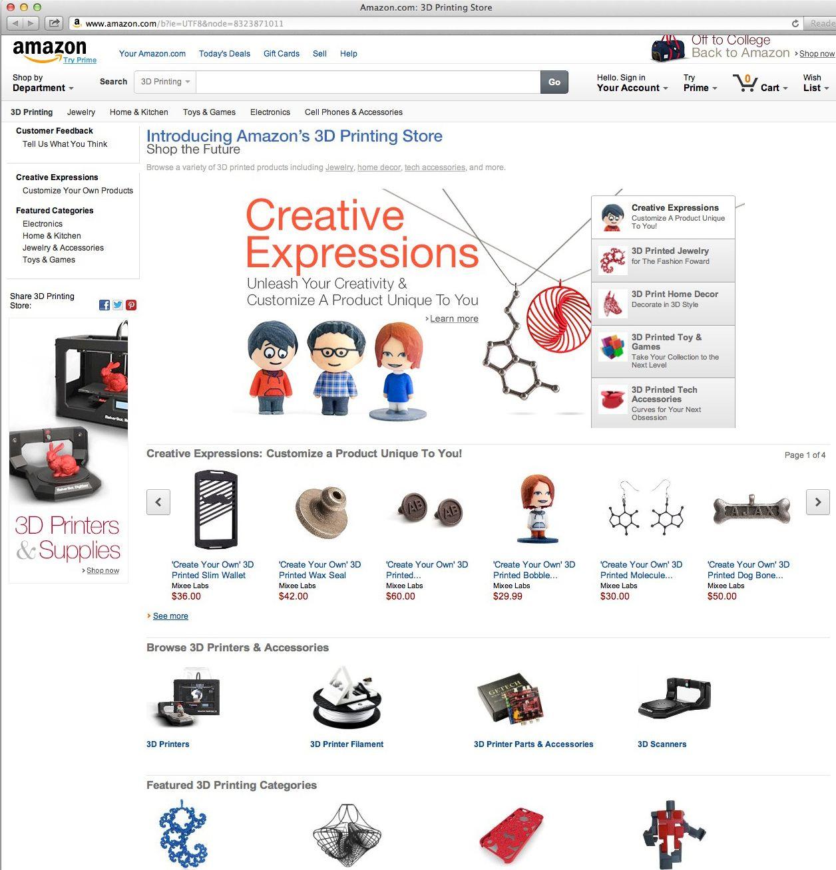 NUR ALS ZITAT Screenshot/ Amazon/ 3D Print