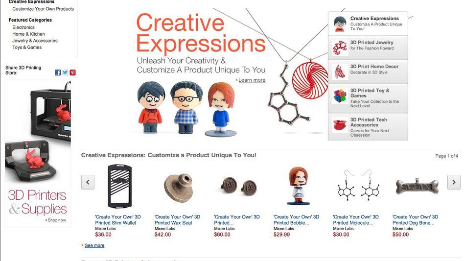 Amazon-Website: Dreidimensionale Prints bisher nur in den USA