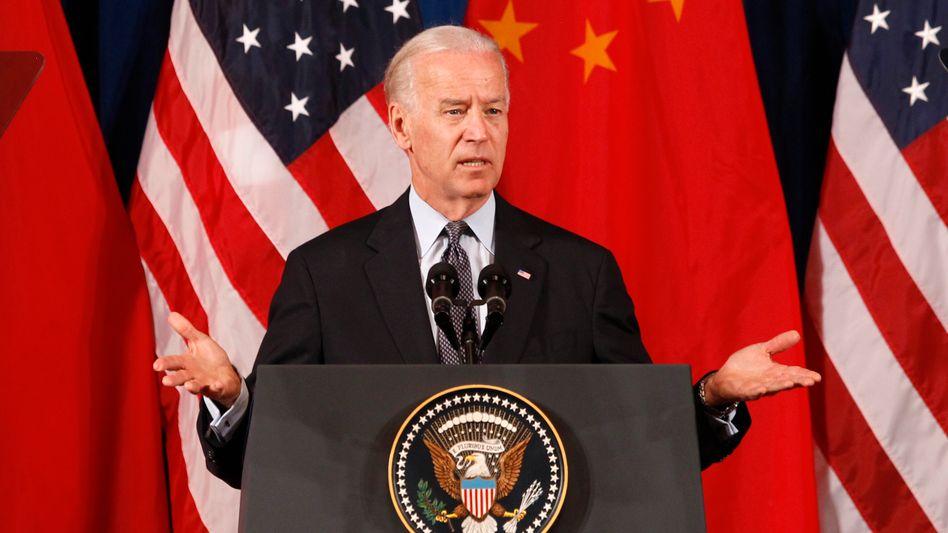 """Obama-Vize Biden (Archivbild): """"USA sollten das Vertrauen der Welt in den Dollar stärken"""""""
