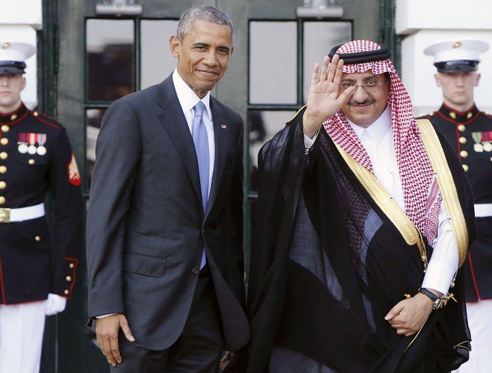 US-Präsident Obama, saudischer Kronprinz Mohammed bin Najef