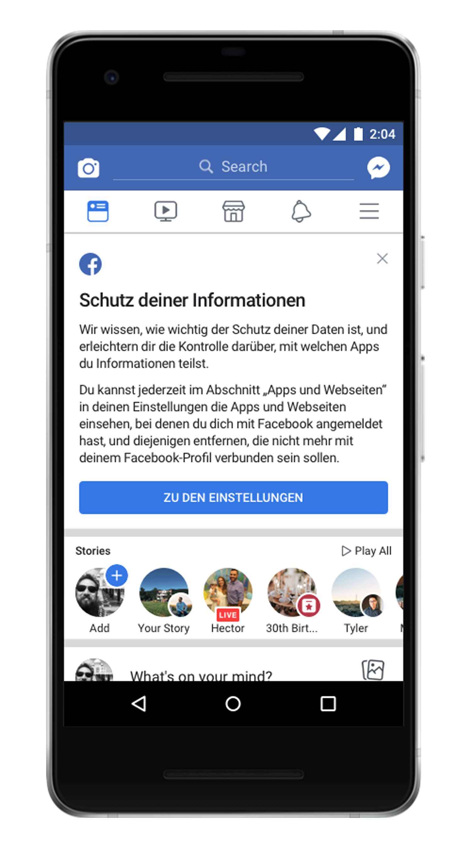 EINMALIGE VERWENDUNG Facebook-Benachrichtigung