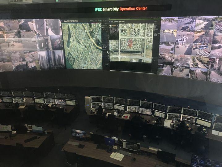 Einsatzzentrale der Stadt Songdo: 24 Stunden die ganze Stadt beobachten