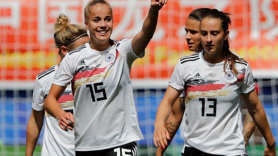 WM-Torschützin Giulia Gwinn: als Doppelagentin unterwegs