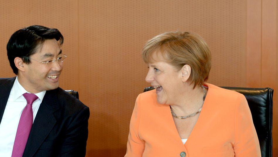 FDP-Chef Rösler, Bundeskanzlerin Merkel: Fortsetzung der Koalition scheint möglich