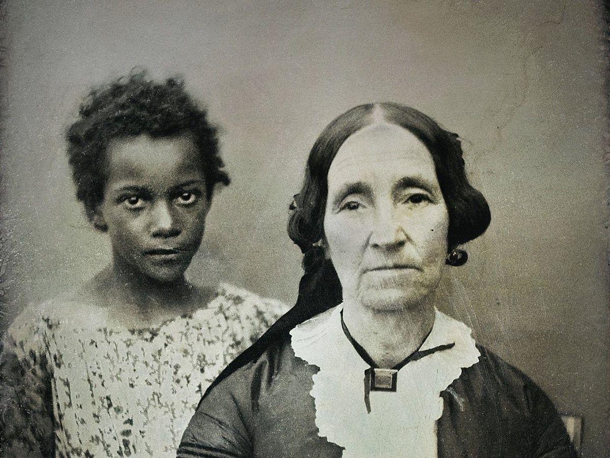Weiße Herrin Schwarzer Sklave